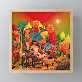 Feel the music Framed Mini Art Print