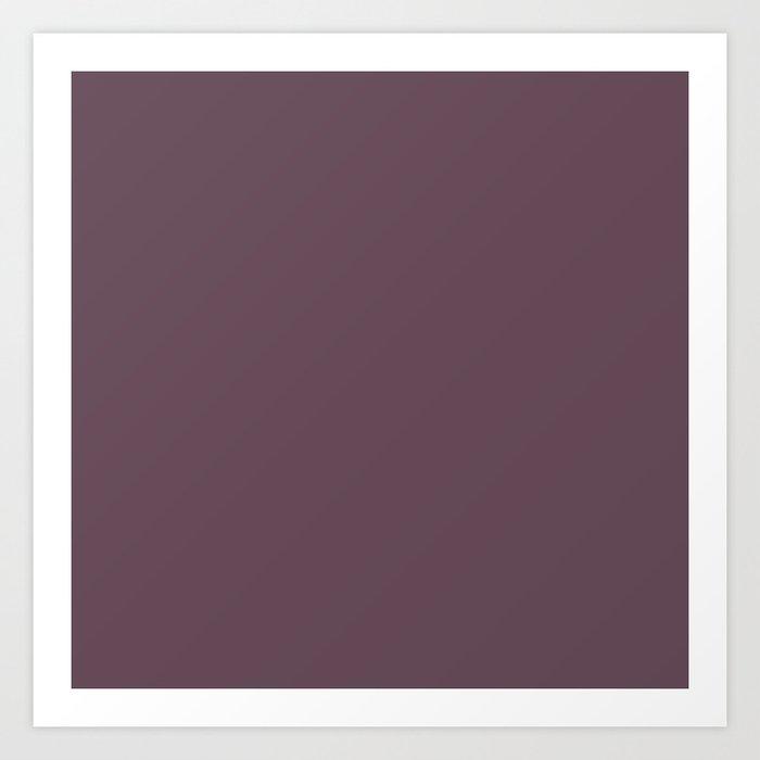 Plum Wine Purple Solid Colour Art Print