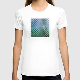 Trendy Blues, Aquas, and Green Mermaid Pattern T-shirt