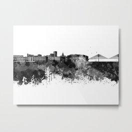 Savannah skyline in black watercolor Metal Print