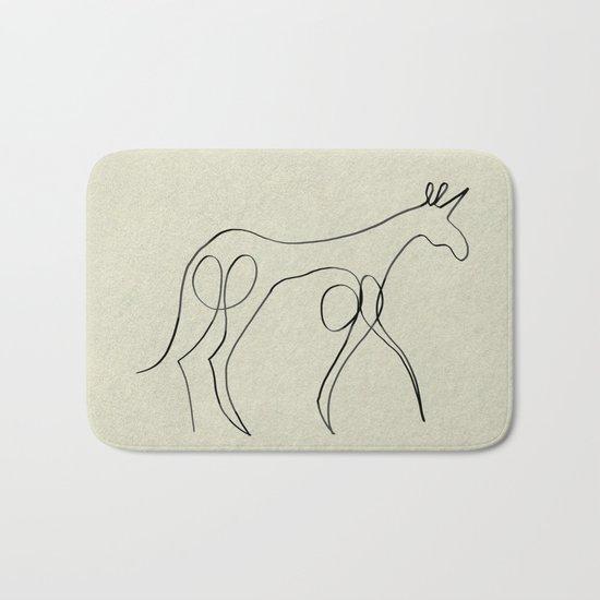 Continuous Line Unicorn Bath Mat