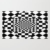 chess Area & Throw Rugs featuring Chess Board by Cs025