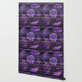 Purple palm leaves Wallpaper