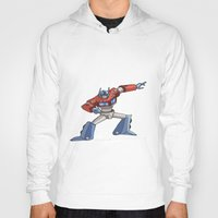 optimus prime Hoodies featuring Optimus Prime by joanniegelinas