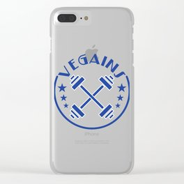 """""""Vegains"""" tee design. Makes a perfect gift to your awesome friends and family! Grab yours too!  Clear iPhone Case"""