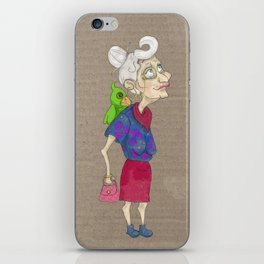 wonderful granny iPhone Skin