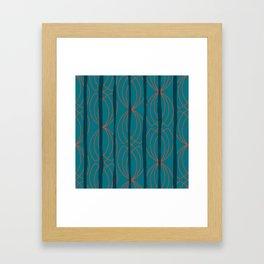 BLOCK STRIPES & GRAPIC I Framed Art Print