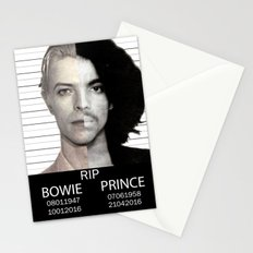 BOWIE + PRINCE Mugshot Stationery Cards