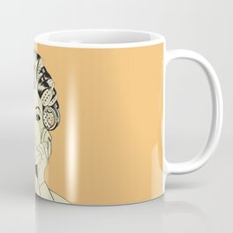 The woman with the curlers Coffee Mug