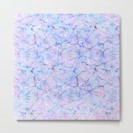 Abstract pink teal lavender watercolor marble pattern Metal Print