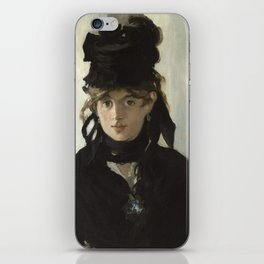 Edouard Manet - Young woman in a black hat iPhone Skin