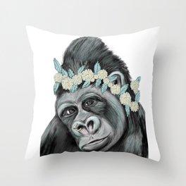 Lovely Gorilla Throw Pillow