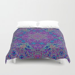 Oil Spill to Flower Duvet Cover