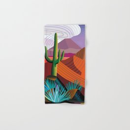 Thunderhead Builds in Arizona Desert Hand & Bath Towel
