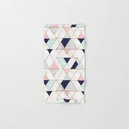 Mod Triangles - Navy Blush Mint Hand & Bath Towel