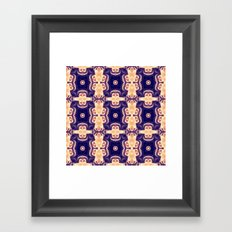 bubble coral mandala Framed Art Print