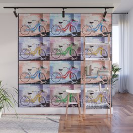Bicycle Pattern Key West Wall Mural