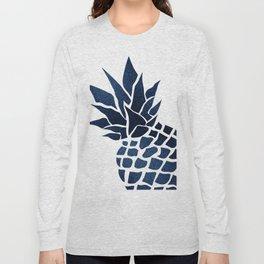 Pineapple, Big Blue, Denim Navy Long Sleeve T-shirt