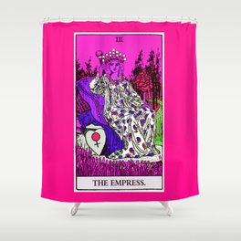 3. The Empress- Neon Dreams Tarot Shower Curtain