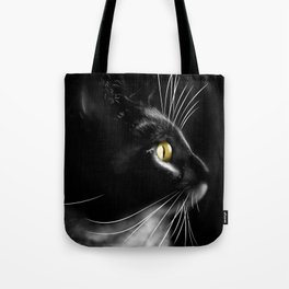Portrait of a cool cat Tote Bag