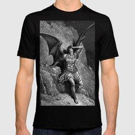 Gustave Dore - Paradise Lost Satan Profile T-shirt