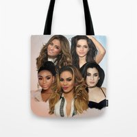 fifth harmony Tote Bags featuring Fifth Harmony by Aaron Jason