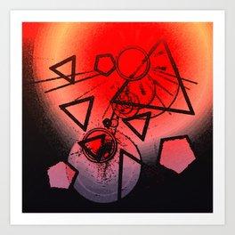 Exploding Planet Art Print