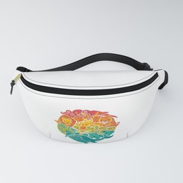 Animal Rainbow - Cream Fanny Pack