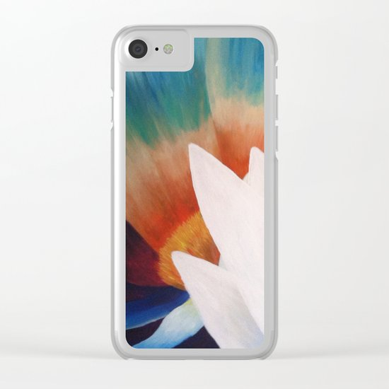 Juxtaposed Flowers   Clear iPhone Case