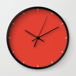 Cherry Tomato   Pantone Fashion Color Spring : Summer 2018   New York and London Solid Color   Wall Clock