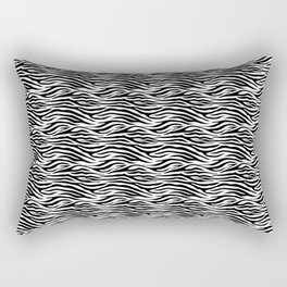 Thick Black and White Tiger Stripes Animal Print Rectangular Pillow