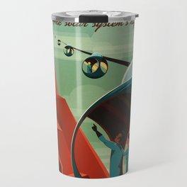 Mars Retro Space Travel Poster Travel Mug