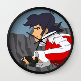 Red Paladin Wall Clock