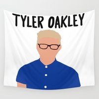 tyler spangler Wall Tapestries featuring Tyler Oakley by BethTheKilljoy