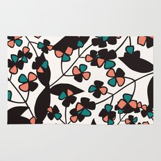 Tangled spring branches and flowers Rug