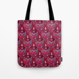 Persian Floral pattern  with painted texture and gold Tote Bag