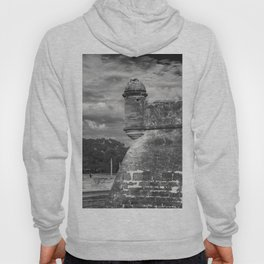 Castillo de San Marcos - black and white Hoody