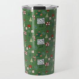 Christmas Owl Green #Christmas #Holiday Travel Mug