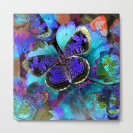 Butterfly Blues Metal Print