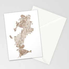 Aspen Colorado watercolormap Stationery Cards