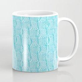 Aqua Knit Textured Pattern Coffee Mug