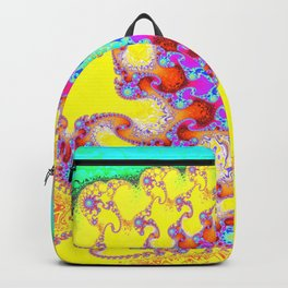 Tropical Octopus Fractal Backpack