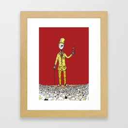 Lightbulb Man Framed Art Print
