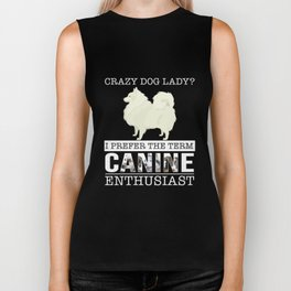 Crazy Spitz Dog Lady I Prefer The Term Canine Enthusiast Biker Tank