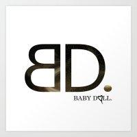 BABY DOLL GALAXY. Art Print