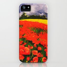 Poppies before the Storm iPhone Case