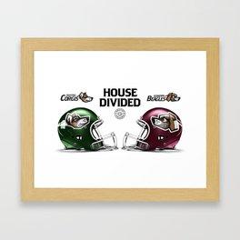 Corgis / Beagles House Divided Framed Art Print