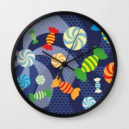 Rainbow Sugar Crush Wall Clock
