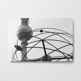 Weltzeituhr Fernsehturm Metal Print
