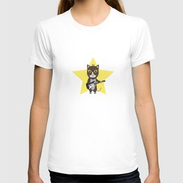 Rock-Music Cat T-shirt